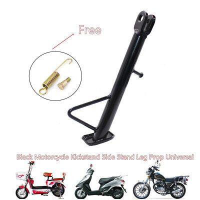 1pc Motorcycle Electrocar Kickstand Side Stand Leg Prop Stablely Black Universal