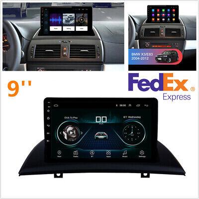 For 04-12 BMW X3 E83 9'' 4-Core 1+16GB Car Stereo Radio GPS Nav Mirror Link OBD