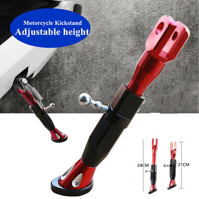 Non-slip Red Motorcycle Kickstand Foot Brace Parking Leg Foot Side Support Stand