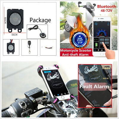 Motorcycle Anti-theft Alarm Security System Remote Engine Start Electric Meter