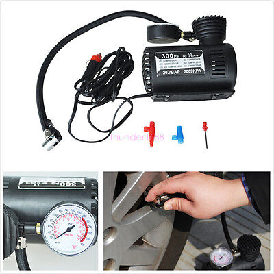 Profession 12V 300PSI Air Inflatable Inflator Pump Compressor For Car/Motorcycle