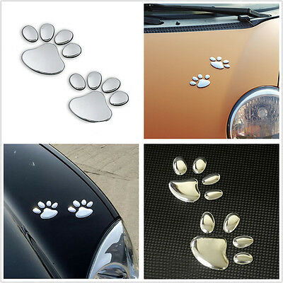 Bear Dog Animal Paw Footprint Logo Emblem Car Window Bumper Hoods Sticker Badges