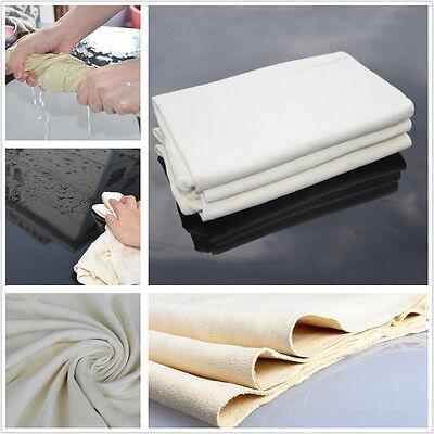 50 x 80cm Car Natural Drying Chamois Cleaning Cloth Sheepskin Car Washing Towel