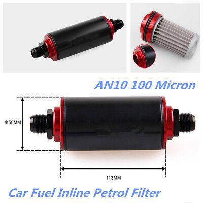 Universal AN10 100 Micron Aluminum Car Truck High Flow Fuel Inline Petrol Filter