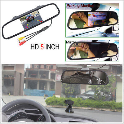 """5"""" TFT LCD Car Parking System Mirror Monitor 2 Video Input For Rear view Camera"""