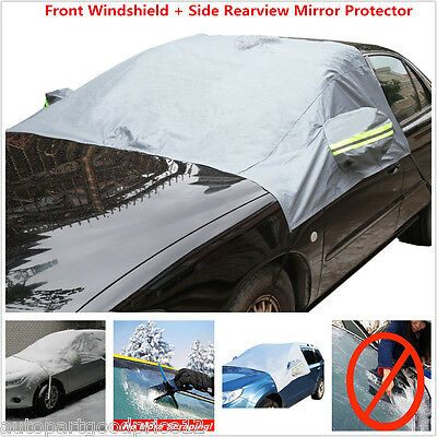 Car Front Windshield   Side Mirror Sun Snow Frost Ice Protector Tarp Flap Cover