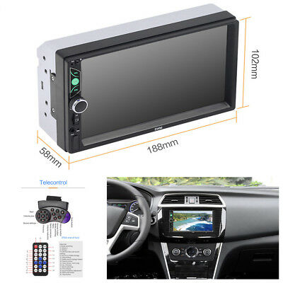 "7"" HD 2Din Car Radio Audio Stereo Video Bluetooth/FM/AUX MP5 Multimedia Player segunda mano  Embacar hacia Mexico"