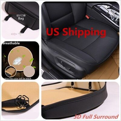 1xPU Leather Car Front Seat Cushion Pad Protector Mat Cover Sedan Driver US SHIP Volvo S40 Car Driver