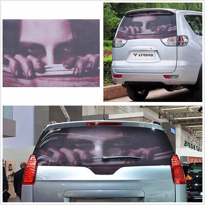 PVC Car SUV Rear Window Decal 3D Transparent Halloween Horror Monsters Stickers