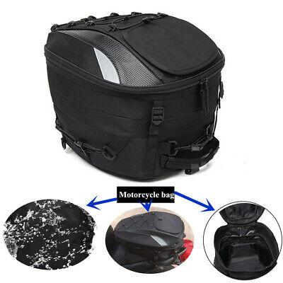 Waterproof Oxford Cloth Motorcycle Tail Tote Bag Rear Seat Bag Rider Backpack