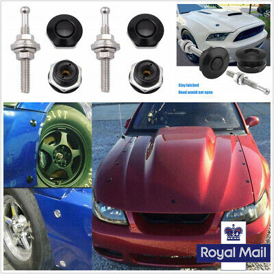30mm Racing Car Hood Quick Release Latch Fastener Push Button Billet Pin Lock 4x