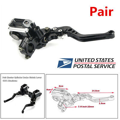 Pair Honda CB CL SL XL XR Handlebar Lever Clutch Front Brake Handle LH RH Black