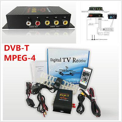 HD DVB-T MPEG4 TV Receiver Box Tuner 4Way Dual Antenna Car Mobile Digital TV Box