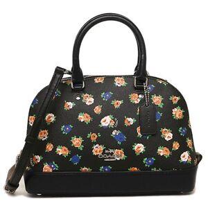 Coach-Mini-Sierra-Crossbody-Satchel-Bag-Tea-Rose-Floral-Print-COD-Pay