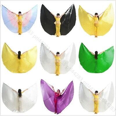 Girl Kids Angel Wings Belly Dance Costume Children's Isis Wings (no stick)](Stick Girl Costume)