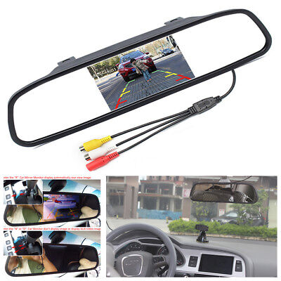 12V 5  Car Parking Mirror Monitor For Rear View Camera Parking Assistance System
