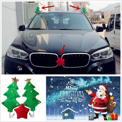 Cute Christmas Tree With Red Star Style Funny Decoration For Car Costume Gift - Tucson Costumes