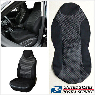 Car Interior Front Seat Cover Protect Cushion Durable Black PU Imitated Leather