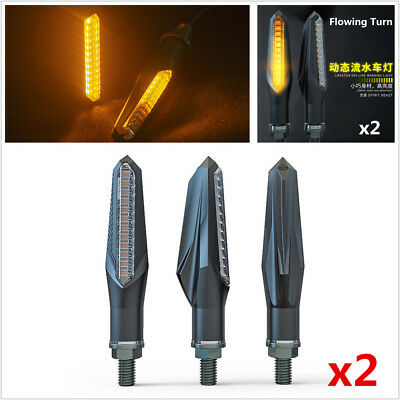 DC 12V Universal Motorcycle Sequential Flowing LED Turn Signal Indicator Lights