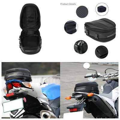 Universal 7.5-10L Motorcycle Rear Tail Seat Back Saddle Pack Shoulder Carry Bag