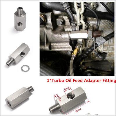 Oil Pressure Sensor Tee 1/8''NPT to NPT Adapter Turbo Supply Feed Line Gauge (2011 Kia Optima Turbo Oil Feed Line)