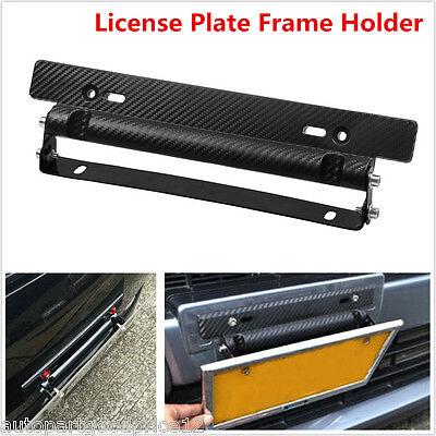 Universal Car Carbon Fiber Number License Plate Frame Holder Bracket (Gazelle Frame Size)
