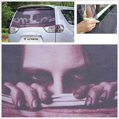 Car Rear Window Styling Decal Sticker 3D Transfer Film Halloween Horror Decor