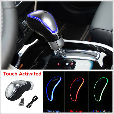 Touch Activated Sensor RGB Multi-Color LED Light Car Gear Shift Knob USB Charge ()