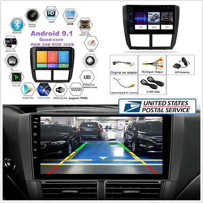 """9"""" 2GB+32GB Android 9.1 4-Core Stereo Radio GPS Player For 08-12 Subaru Forester"""