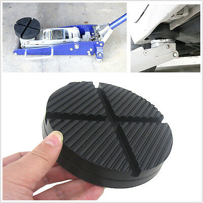 1xCross Slotted Frame Rail Floor Jack Disk Rubber Pad Adapter For Pinch Weldside
