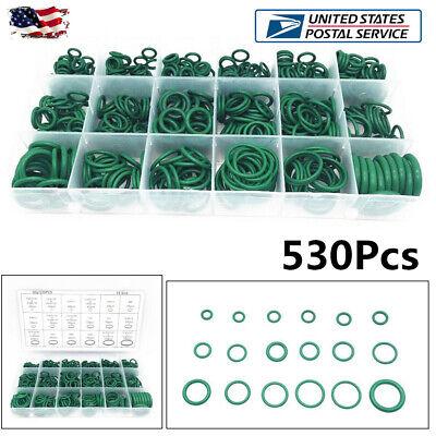 Mistral Set Ring - 530Pcs 18 Sizes Green O-Ring Repair Car Air Conditioning Rubber Sealant Box Set