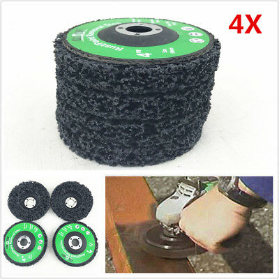 4X 4  Poly Strip Disc Car Paint Rust Removal Clean Grinder Wheel 46 Grit Durable