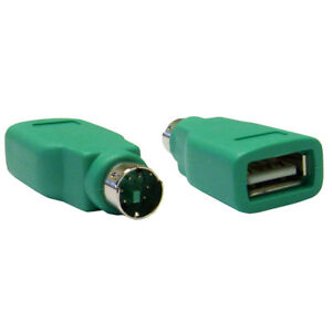 PS2 Male to USB Female Mouse / Keyboard Converter Adapter