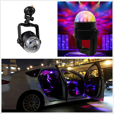 3 Color LED Car Music Rhythm Sound Activated Interior Light DJ Disco Flash Lamp