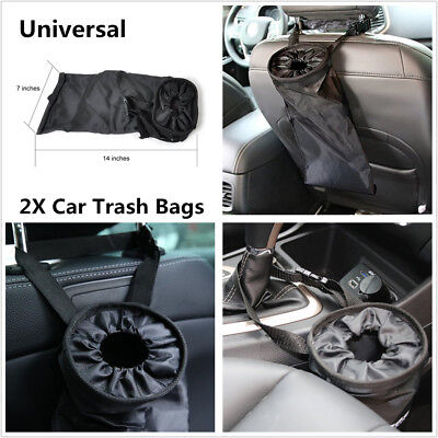 2Pcs Travelling Home Car Trash Bags Washable Leakproof Eco-Friendly Garbage -