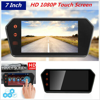 7'' Touch Screen HD LCD Bluetooth Car Rear View Backup Monitor USB FM MP5 Player