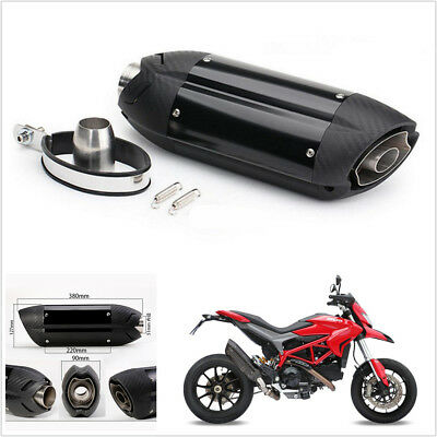 51mm Carbon Fiber Look Aggressive Sound Motorcycle Exhaust Muffler Pipe Silencer