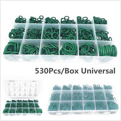 530Pcs R134a A/C O-ring Seals Kit Car Air Conditioning Repair Rubber Sealant Box