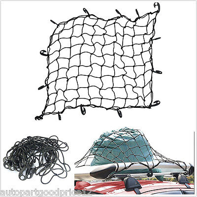 Car Suv Roof Top Rack Cover Network Luggage Carrier Cargo Basket Elasticated Net