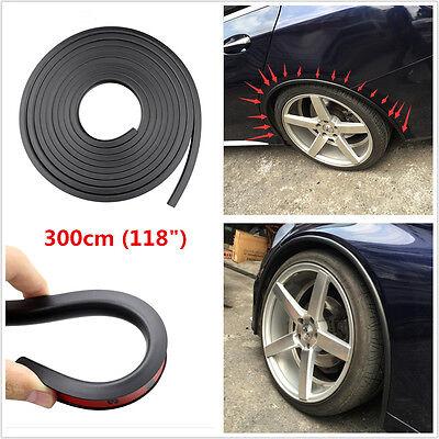 118'' 3M Car Fender Flare Extension Wheel Eyebrow Protector Lip Wheel-arch Trim