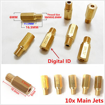 Motorcycle 10x Main Jet for Carburetor Size from 118-160