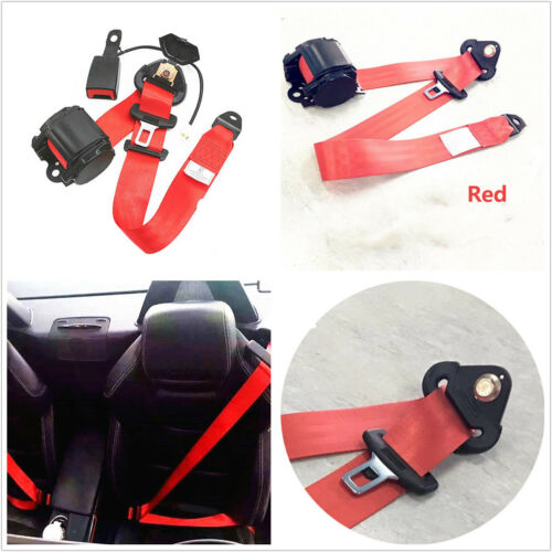 141.7/'/'//3.6M Beige 3 Point Front Safety Retractable Car Seat Lap Belt Universal