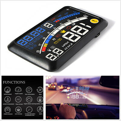 "Car 5.5"" OBDII/EOBD Head Up HD Display With Non-slip Mat&Cable Speed Shift Gear"