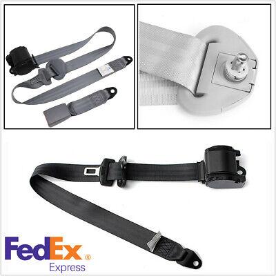 Gray 3 Point Car Seat Belt Automatic Retractable Safety Lap Adjustable 88-137cm
