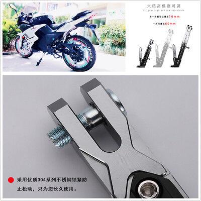 Adjustable Motorcycle Bike CNC Aluminum Alloy Side Tripod Holder Fall Protector