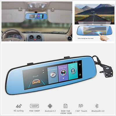 7 84 4G 1080P Wifi Dual Lens Car Remote Monitor Rear View Mirror With Dvr Camera