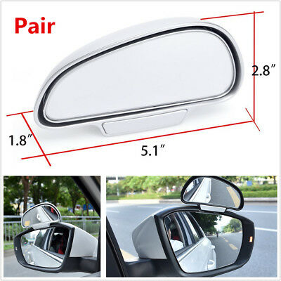 Pair Car Truck Wide Angle Side Rear Mirrors Blind Spot Snap Way Rear View Mirror