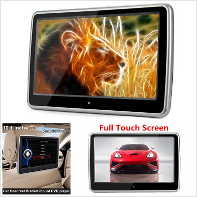 HD Touch Screen Car Headrest Monitor DVD Player Game HDMI/USB/SD/IR/FM Enterance