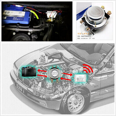 12V 180A Auto Car Battery Switch Remote+Manual Control Disconnect Latching Relay