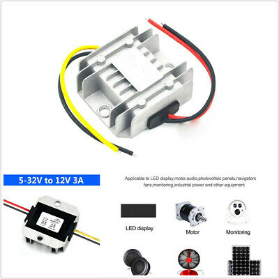 Universal 5-32v To 12v 3a Dc Car Power Voltage Regulator Stabilizer Converter